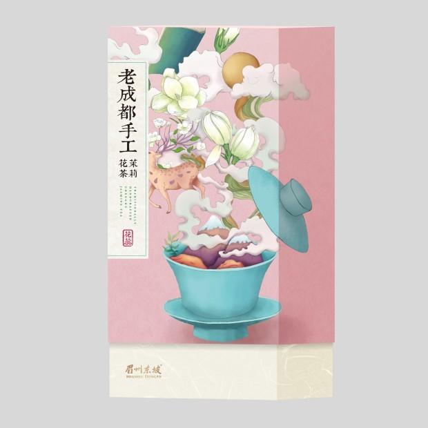 老成都手工茉莉花茶 · 东坡花蕊(礼盒)